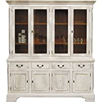 Comparador de precios Casa-Padrino Vintage Buffet Cabinet Antique Style White/Wood Colors H 219 x W 189 cm - Cabinet Shelf Cabinet Shabby Chic - precios baratos
