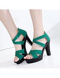 Femmes Chaussures PVC 2018 Nouveau Printemps Été Club Chaussures Talons Talon compensé Cristal Talon translucide Talon Paillettes Strass pour la Fête de Mariage Et Soirée (Couleur : B, Taille : 40)