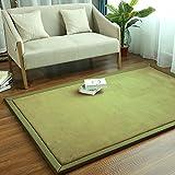 ZXCVBN Schlafzimmer Teppich einfachen Couchtisch Wohnzimmer Matte Kinder Krabbeldecke kann maschinengewaschen Werden Haushaltsmatte olivgrün 0,8 m x 2 m