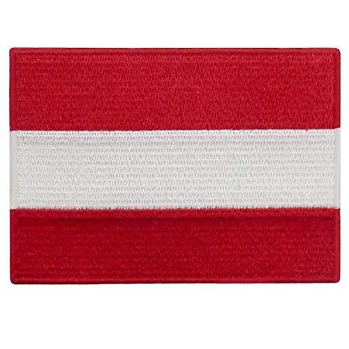 EmbTao Österreich Flagge Bestickter Aufnäher zum Aufbügeln/Annähen -