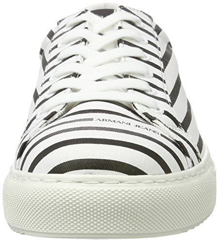Armani Jeans 9350637p404, Sneakers basses homme Mehrfarbig (bianco/nero All Over)