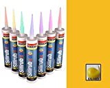 Build With Colour RAL 1023 Yellow Silicone Sealant