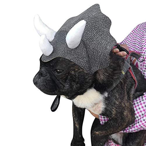 Tierbedarf für Katze und Hund, Pet Triceratops Caps PET CAPTAIN XKL1801 Hut im Freien
