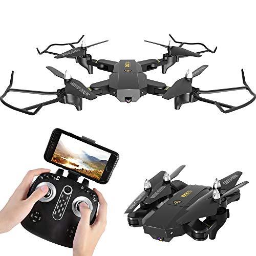 MBEN Drohne und Kamera, 2,4G 5MP 1080P WiFi 120 ° Weitwinkelkamera Echtzeit-Bildübertragungs-App steuern zusammenklappbare vierachsige Flugzeuge, geeignet für Anfänger