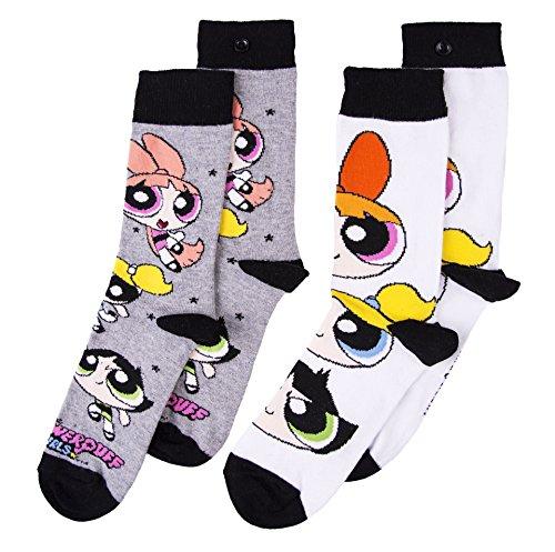Womens 2pk Powerpuff Girls Socks