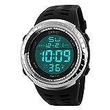 Sunjas - Reloj de pulsera led digital deportivo analógico multifunción resistente al agua...