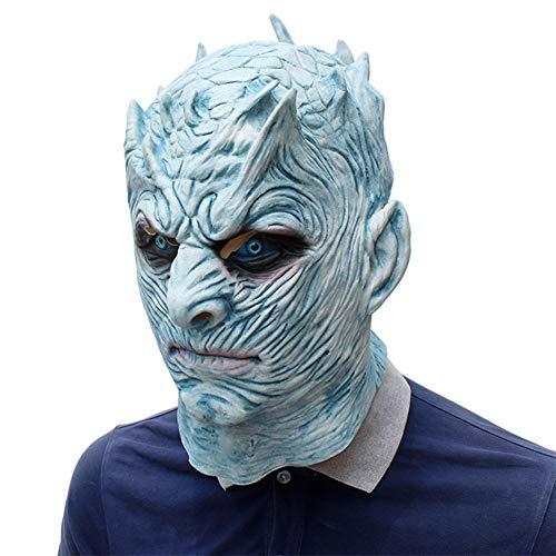 Für Kostüm Bösen König Erwachsene - Halloween Mask Nacht König Ghost Masquerade Ice Fire Song Latex Kopfbedeckung