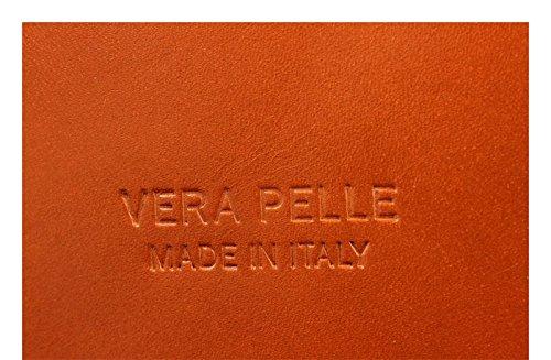 Schöne praktische Leder Camel Handtasche aus Leder Palagio Camel über die Schulter Camel