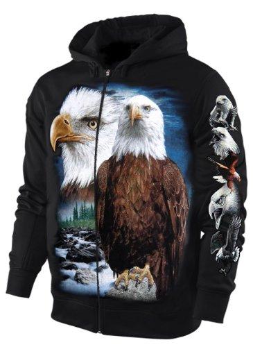 Sweatshirt-Jacke/ Hoody ADLER Größe XXL (Pullover Adler)