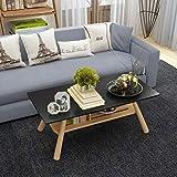 GZ Nordic Couchtisch Kreativer Wohnzimmer Teetisch Sofa Seite Kleine Wohnung Doppelte Lagerung Kleiner Tisch,Schwarz,100 * 60 * 45 D