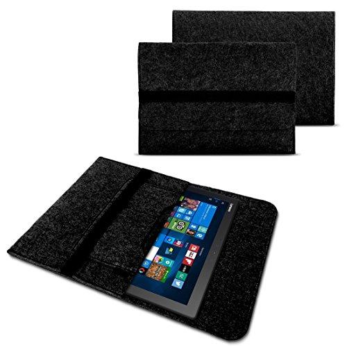 NAUC Tasche Hülle für Acer Switch Alpha 12 Filz Sleeve Schutzhülle Laptop Case Cover Notebook Bag aus Filz in Grau mit Innentaschen und sicheren Verschluss