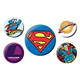 Jeu de Badges Authentiques DC Comics Superman 5 pièces Daily Planet Lexcorp