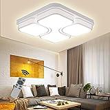 LED Modern Deckenlampe Deckenleuchte Quadrat Energiespar Wohnzimmer Schlafzimmer Korridor Acryl-Schirm Rahmen Flur Lampe Schlafzimmer Küche Energie Sparen Licht Durchbohrte Wandleucht (64W Dimmbar)