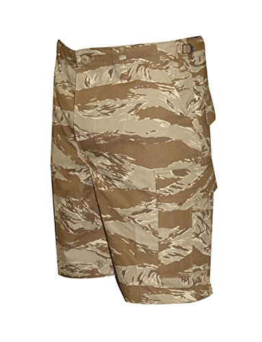 Tru-Spec Herren BDU Reißverschluss Fly Shorts, Herren, BDU ZIPPER FLY SHORTS, Original Desert Tiger Stripe, L/Regular (Stripe Tiger Bdu Desert)