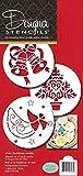 Designer Stencils C164Christmas Cookie stencil (albero di Natale angelo–Bells), beige/semi-transparent