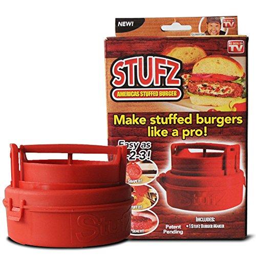 as-ontv Stufz Stuffed Burger Press versiegelt Regler Regular Burger Patty Maker BBQ Grillen und Gourmet Küche Werkzeug