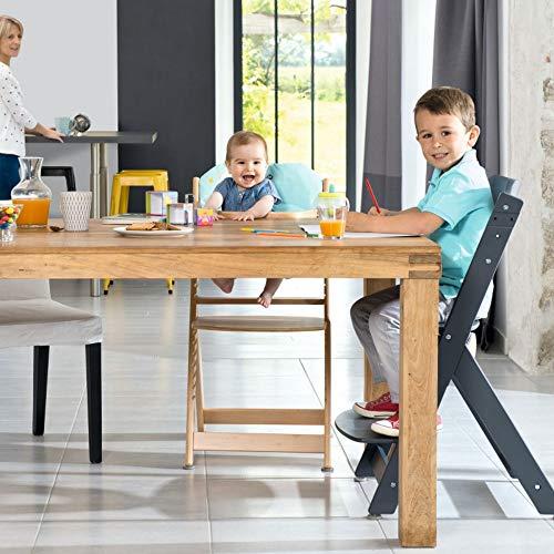 Safety 1st TIMBA, Trona de madera evolutiva para niño, color madera Natural, de los 6 meses hasta los 10 años, hasta los 30 kg