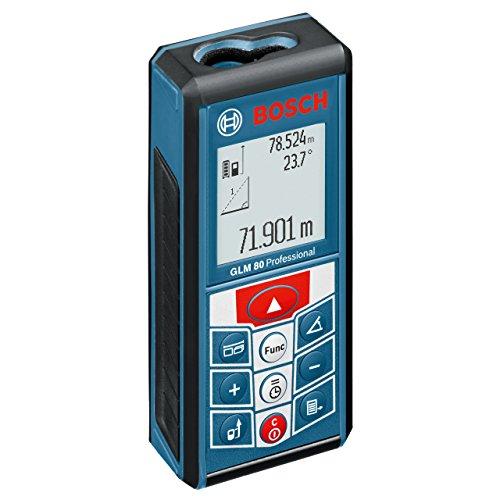 Preisvergleich Produktbild Bosch Professional Laser-Entfernungsmesser GLM 80, 0,05 - 80 m Messbereich, ± 1,5 mm Messgenauigkeit, Schutztasche, Micro-USB-Ladegerät, Herstellerzertifikat