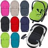 Fußsack / Sommerfußsack für Babyschale Kinderwagenschale Kinderwagen (TÜRKIS)