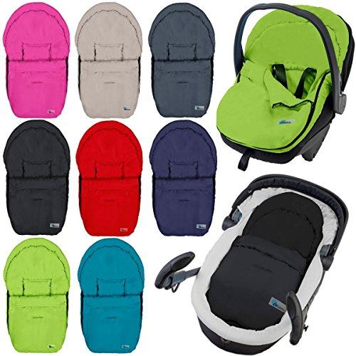 Fußsack / Sommerfußsack für Babyschale Kinderwagenschale Kinderwagen (SCHWARZ)