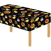 (Davies 11789) Halloween Party Pumpkin Witch Kids Table Cover / Tablecloth - Wipe Clean