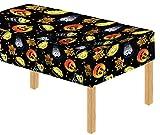 Tovaglia Davies 11789, ideale per feste di Halloween, con motivi a forma di zucche e streghe, tovaglia da tavolo per bambini,facile da pulire