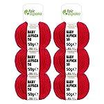100% Alpakawolle in 50 Farben (kratzfrei)