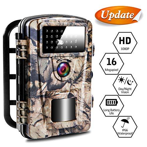CenZo Wildkamera Jagdkamera 12MP 1080P HD IP66 Wildkamera mit Bewegungsmelder 27 Infrarot-LEDs Spielkamera 0.2s-0.6s Auslösezeit wasserdichte 2.4 Zoll LCD Nachtsichtbereich 65 Ft