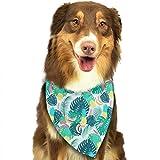 Wfispiy Palm-Blätter und Ananas-Muster Ostern Hund Bandana Reversible Dreieck Lätzchen für Hunde Haustier Tiere