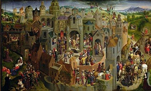 "Alu-Dibond-Bild 150 x 90 cm: ""The Passion, 1470-71 (oil on panel) (see also 169611 and 169612)"", Bild auf Alu-Dibond"