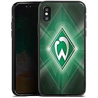 Apple iPhone X Silikon Hülle Case Schutzhülle Werder Bremen Fanartikel Fussball