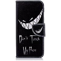 Étui protecteur en similicuir de qualité supérieure, pour Samsung Galaxy A6, résistant aux chocs, doté d'une fonction support avec béquille, et d'un emplacement pour cartes et cartes d'identité Smile