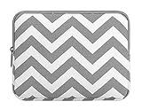 MOSISO iPad Pro 10,5 Case, Tablet Hülle Sleeve Tasche für 2017 iPad 9,7 Zoll, iPad Air 2/Air, iPad 1/2/3/4, Chevron Stil Canvas Gewebe Schutzhülle, Grau