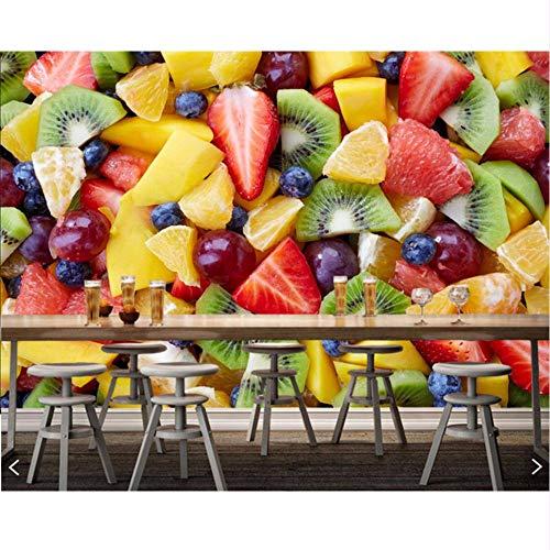 Lsfhb Obstsalat-Beere Viele Kiwi-Food-Foto-Raumküchenrestaurant-Schnellimbissshop-Coffeeshop-Wandgemälde-350X250Cm (Für Obstsalat Halloween)