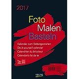 Foto-Malen-Basteln A4 schwarz 2017: Kalender zum Selbstgestalten