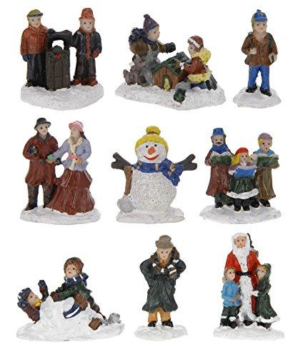 CHICCHE 9 Set Figuren für die Weihnachtsszene - 5cm Land - Weihnachtsdorf Deko