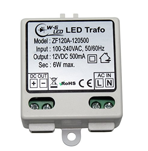 LED-TRAFO 12V-DC 6W max. Transformator-Netzteil 0,5A