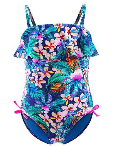 IKALI Mädchen Badeanzug Tankini, Blume gedruckt Bademode für Strand Baden Kleinkind/Kinder