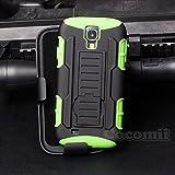 Cocomii Robot Armor Galaxy S4 Active Hülle [Strapazierfähig] Gürtelclip Ständer Stoßfest Gehäuse [Militärisch Verteidiger] Case Schutzhülle for Samsung Galaxy S4 Active (R.Green)
