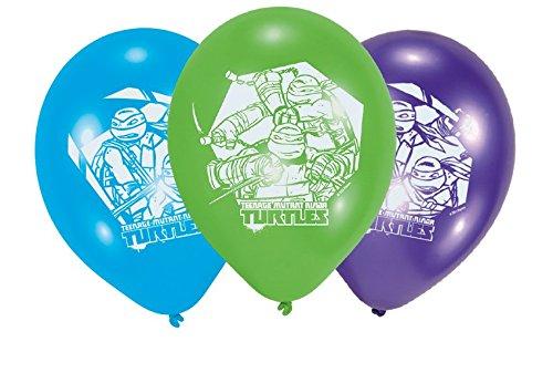 6er-Packung Luftballons aus Latex, Motiv: Ninja Turtles, 23cm ()