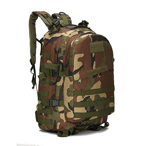 Wasserdichte Oxford Mountaineering Bag Outdoor Rucksack mann Taschen Umhängetaschen camouflage Sport Rucksack 46 * 33 * 18 cm, Python stria Schlamm Farbe Jungle Camouflage