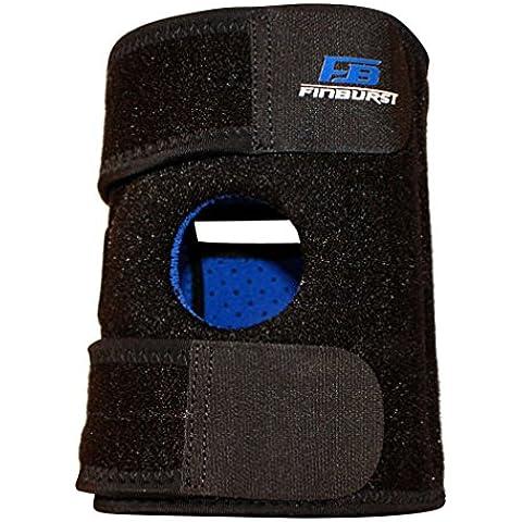 FinBurst Rodillera - LAUNCH REBAJAS - Refuerzo para la Rodilla de Primera Calidad para Ligamentos Desgarrados, el Menisco, la Artritis, etc. - Satisfacción garantizada