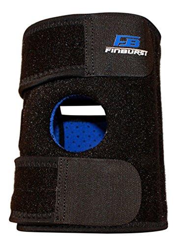 FinBurst Kniebandage – LAUNCH RABATT – Verstärkte Stabilität bester Qualität und Entlastung für ein gerissenes Kreuzband, Meniskus, Arthritis, etc. – Zufriedenheit garantiert