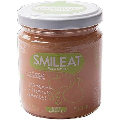 Tarrito Manzana y Pera con Cereales Ecológico SMILEAT +4m (230 grs)