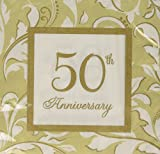 Amscan-Elegant-Scroll, 50. Anniv (Gold)