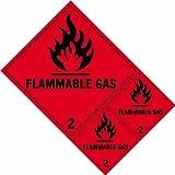 Spectrum industriale 4.709,2cm gas infiammabili classe 2etichette 'vinile autoadesivo segno, multicolore, 200x 300mm