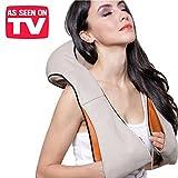 Esclusivo massaggiatore cervicale 3D con funzione calore a effetto distensivo - massaggio con riscaldamento shiatsu per il collo, spalle, schiena cuscino massaggiante riscaldante da auto e casa - 4304