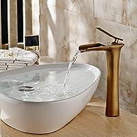 MEICHEN-Tutti rame sollevata antichi progettato Bagno Lavelli rubinetti cade fuori del rubinetto tumbler raccordi in bronzo