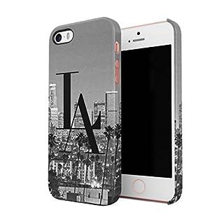 LA Tropical Los Angeles Angels City Califronia Good Vibes Dünne Rückschale aus Hartplastik für iPhone 5 & iPhone 5s & iPhone SE Handy Hülle Schutzhülle Slim Fit Case Cover