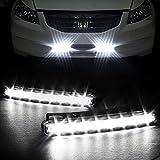 Eximtrade 2 Piezas 8 LED Auto Coche Conducción Luces Diurna Faros Antiniebla Lámpara DRL SUV Camión Vehículo